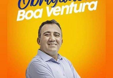 VALE DO PIANCÓ BOA VENTURA PB. VEREADOR CAMPEÃO DE VOTOS AGRADECE PELOS 340 VOTOS RECEBIDOS!