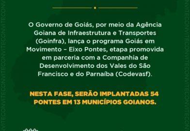 Em Formosa, governador Ronaldo Caiado lança Goiás em Movimento-Eixo Pontes e dá início à construção da primeira estrutura em parceria com a Codevasf
