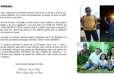 Felicitações de Aniversário Radialista Chico Paraíba, de toda equipe Rádio MancheteFM e amigos.